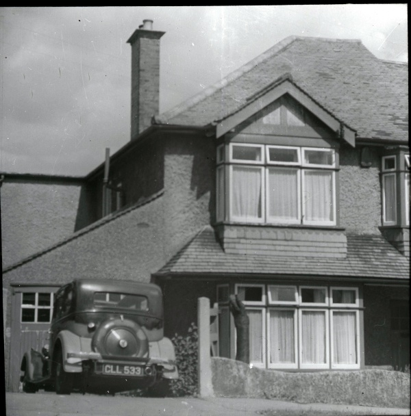 10 Willis Ave Carshalton Beeches Surrey with Rover in driveway 1930s