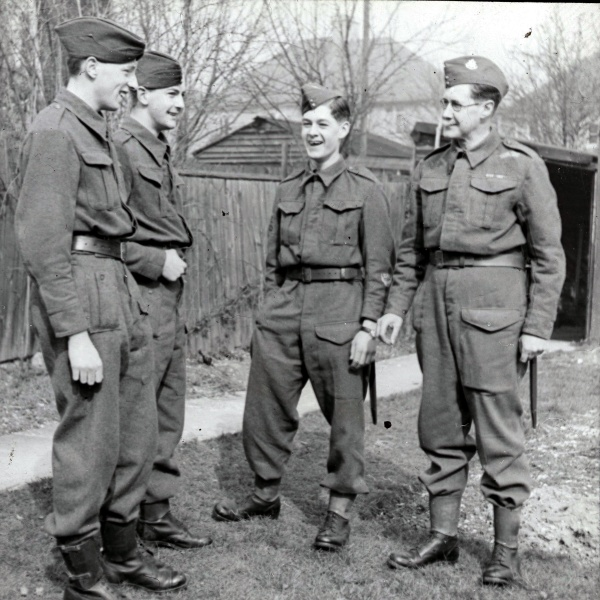 Percy, Douglas and other home guard volunteers.